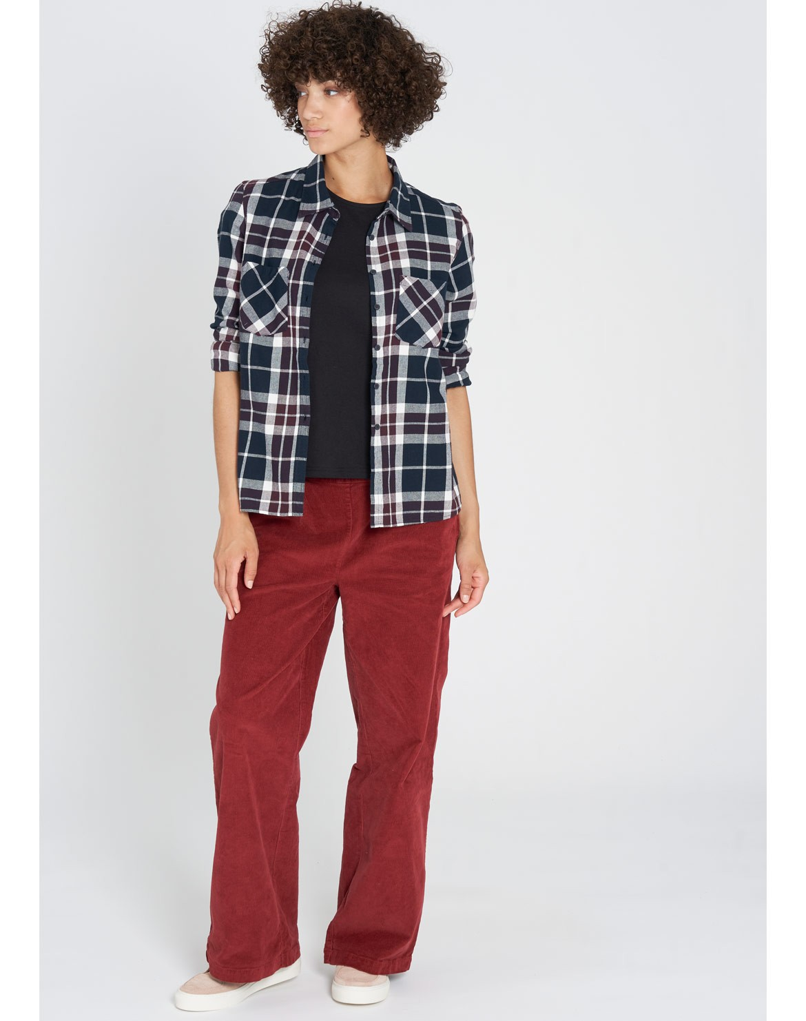 Flanell Bluse