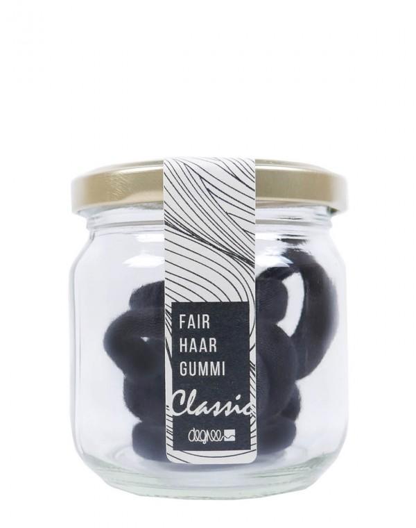 Haargummi 7er Pack im Glas