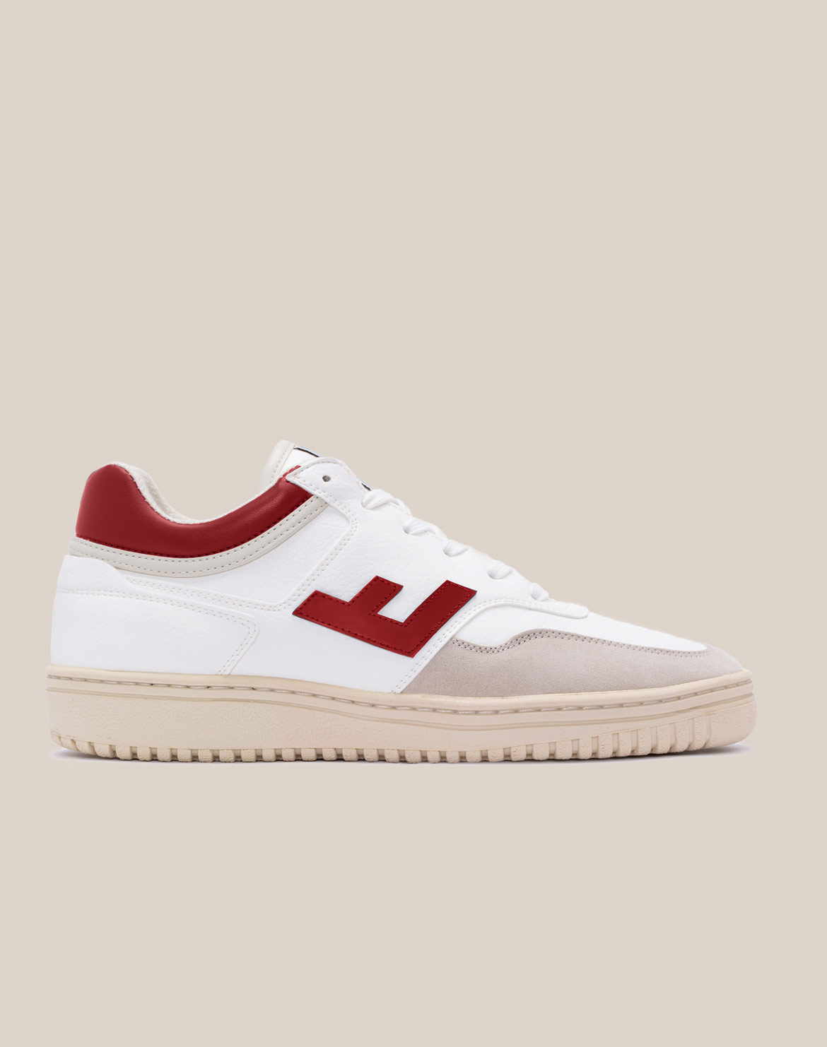 White/Red Monocolor