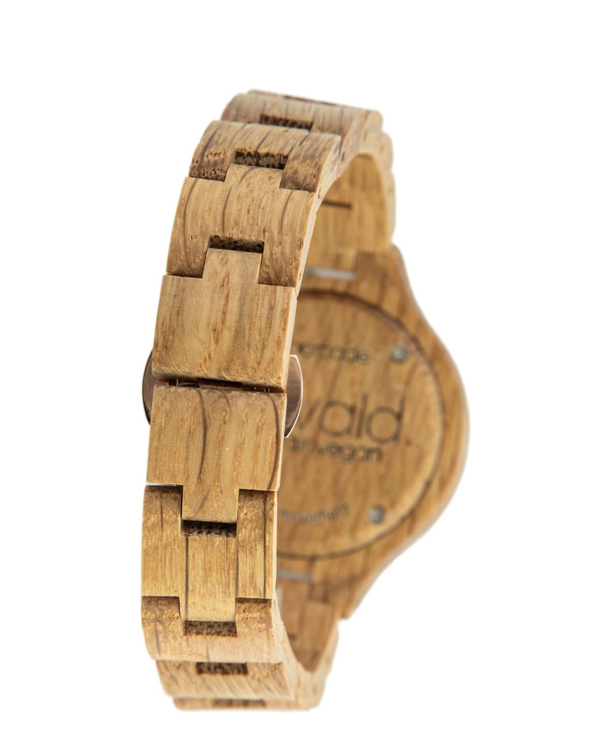 Wood Watch Edelweiss Oak 36mm rosé gold