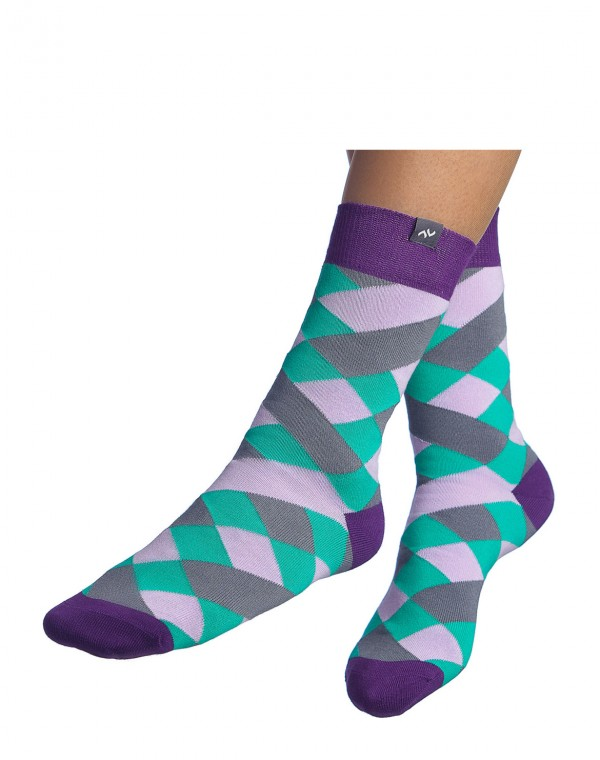 Socken Picnic Anarchy - Orchid Mint