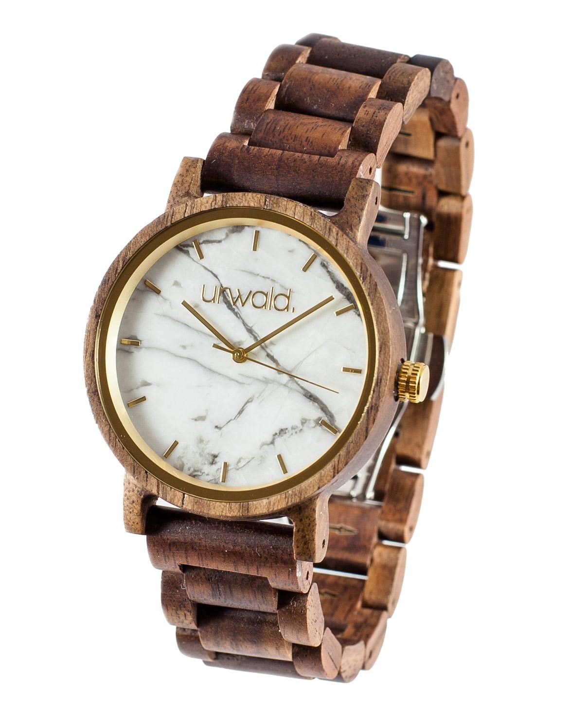 Wooden Watch Schneeberg Walnut 40mm