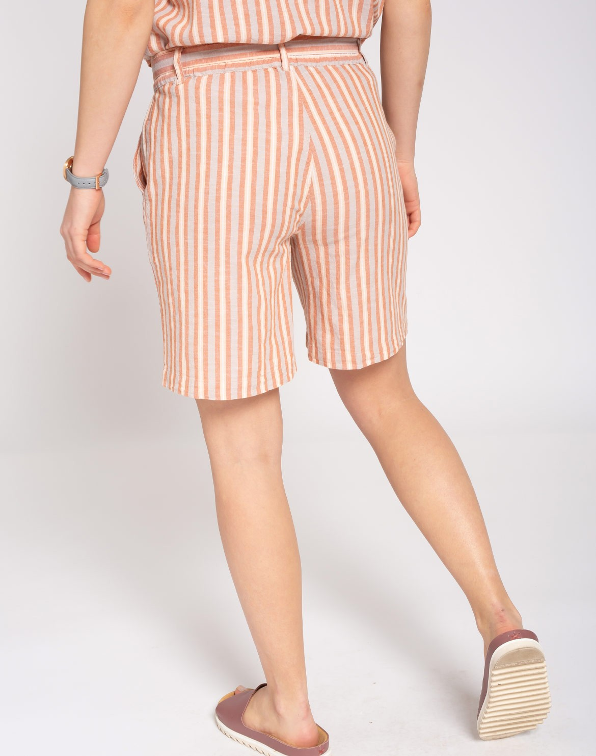 Stripes Linen Shorts