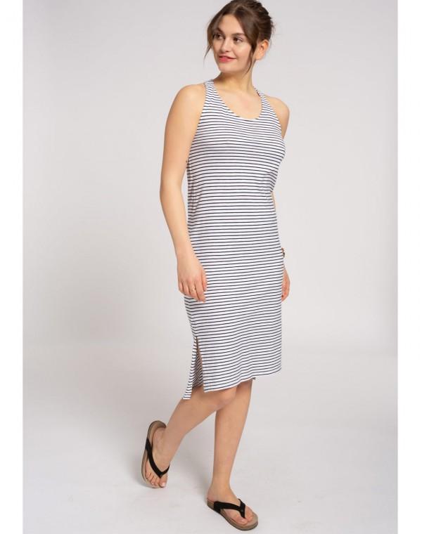Stripes Sleeveless Jerseykleid