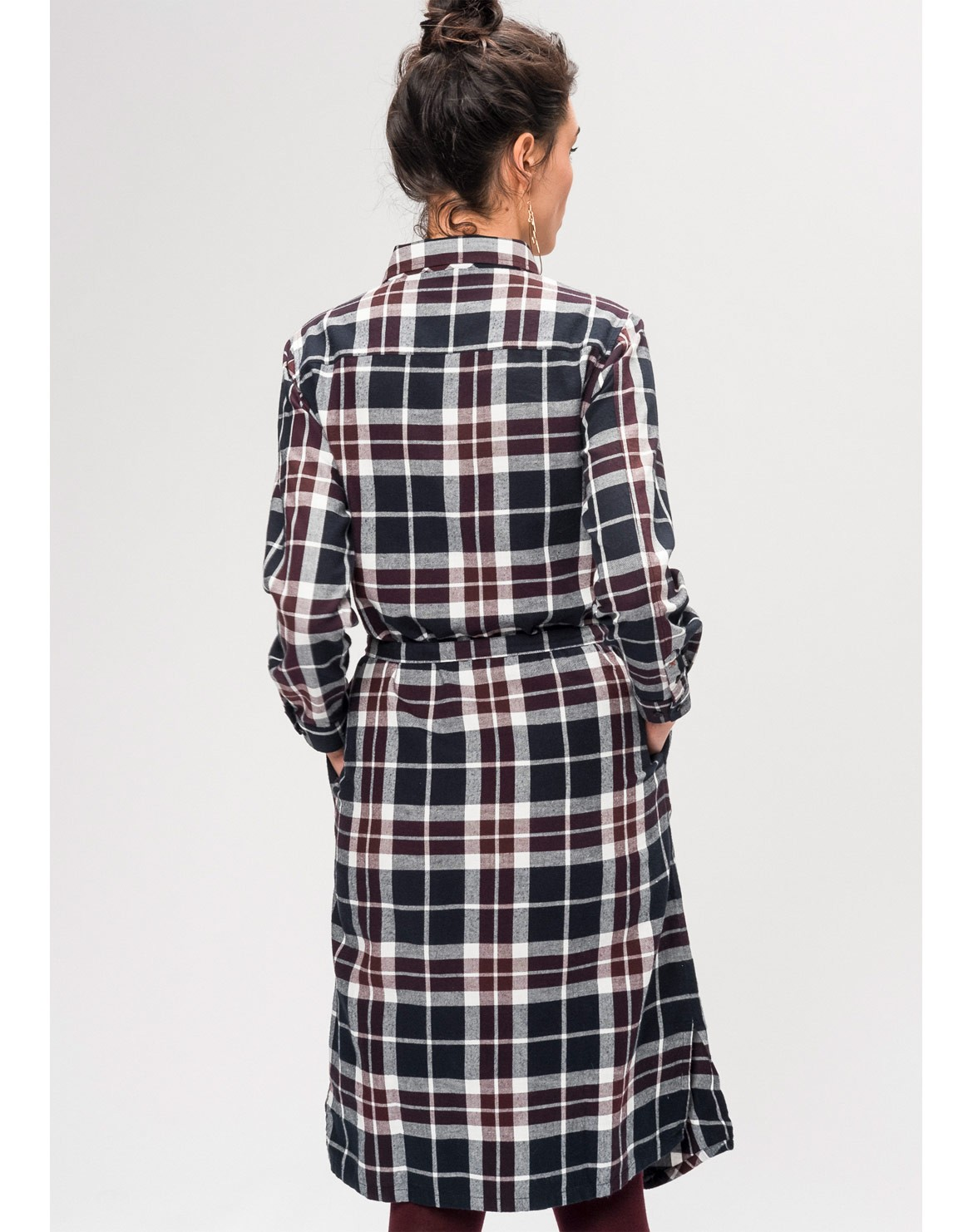 Flanell Kleid Checked