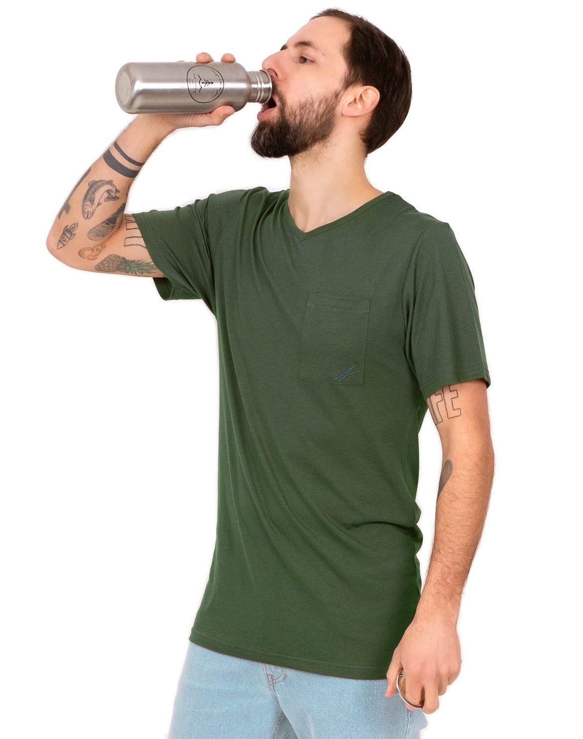 Pocket V-Neck T-Shirt