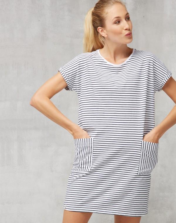 Stripes Casual Jerseykleid