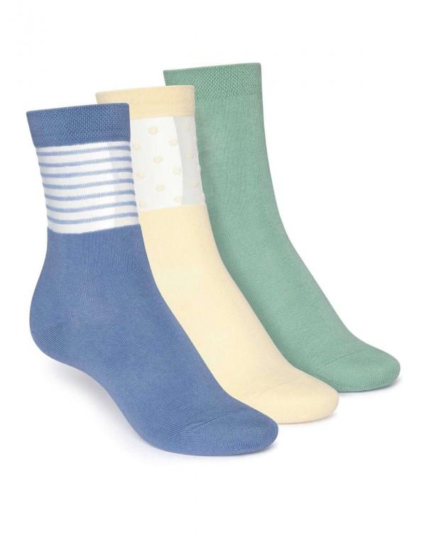 3er Pack Mid Socken