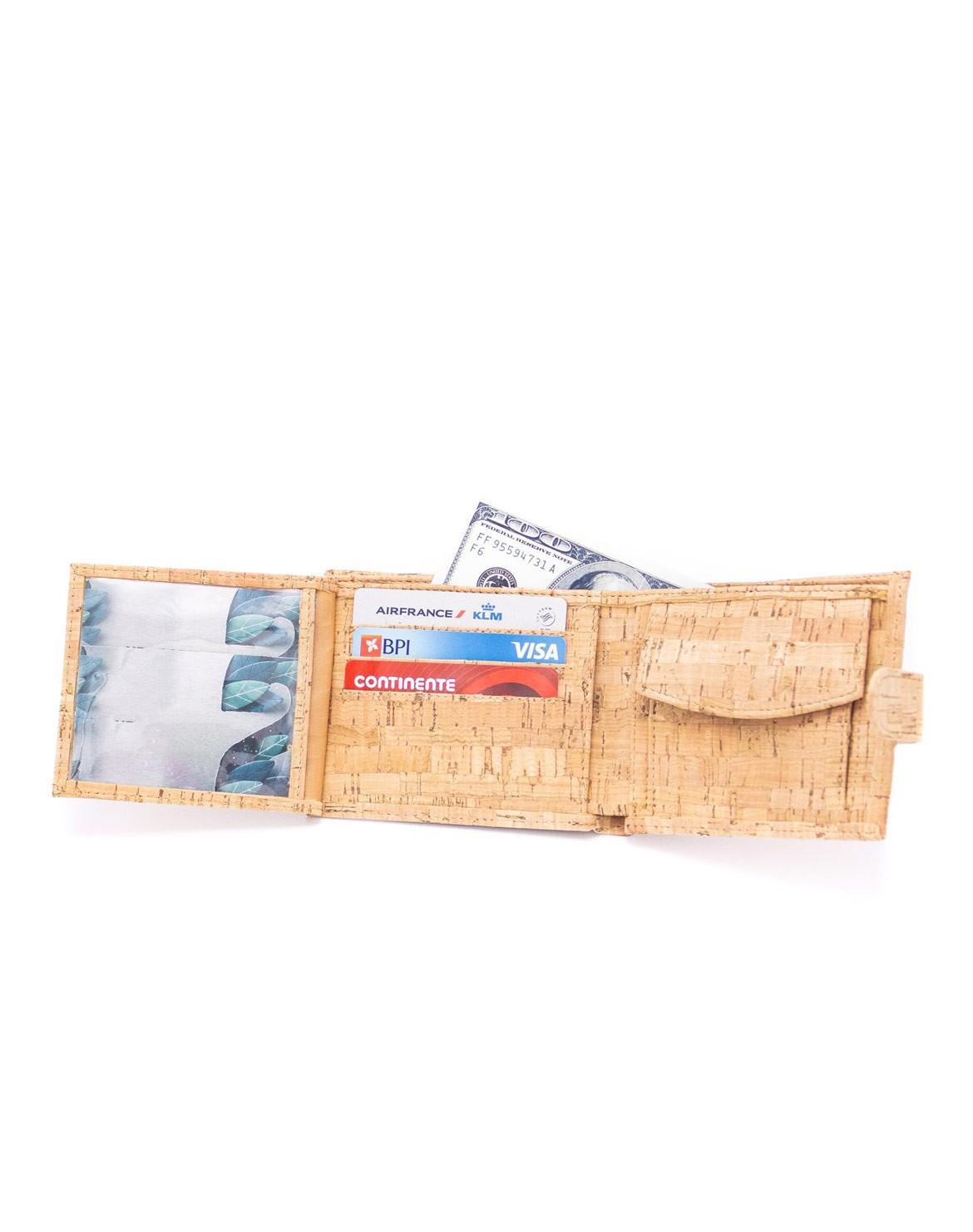 Toni Tri-Fold Kork Geldbörse