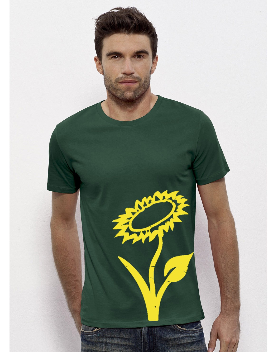 Vlower T-Shirt Grün-Gelb