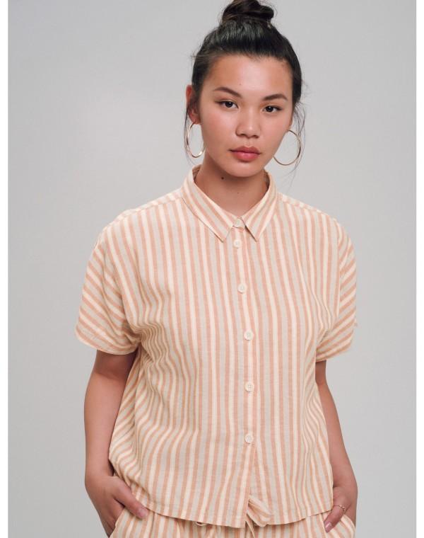 Stripes Linen Bluse