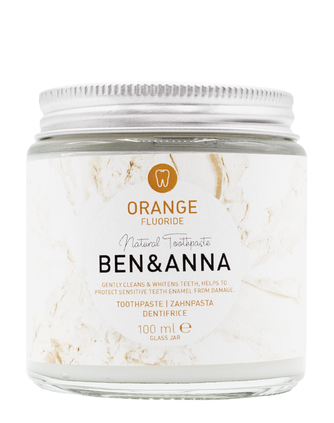 Zahnpasta Orange mit Fluorid
