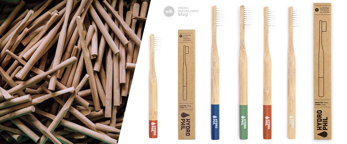 Umweltfreundliche Bambus Zahnbürsten von Hydrophil