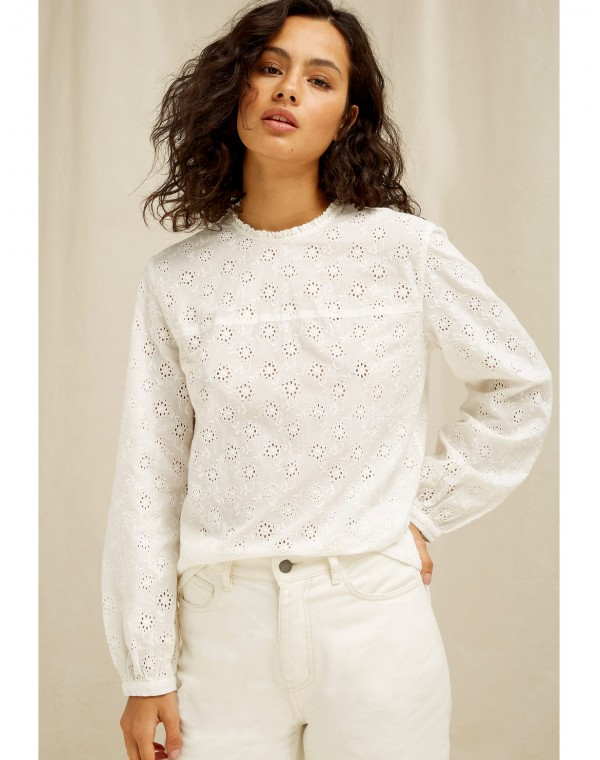 Mia Broderie Bluse