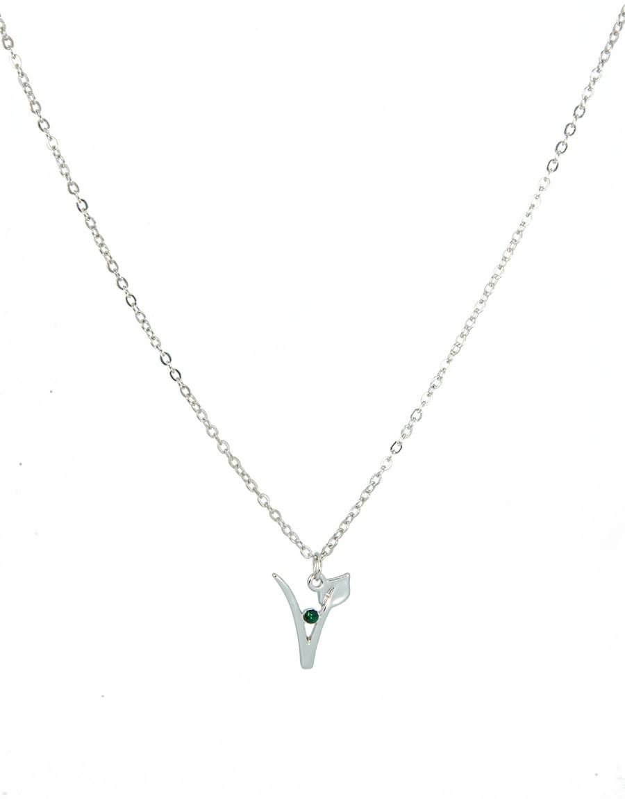 Halskette V m. Stein