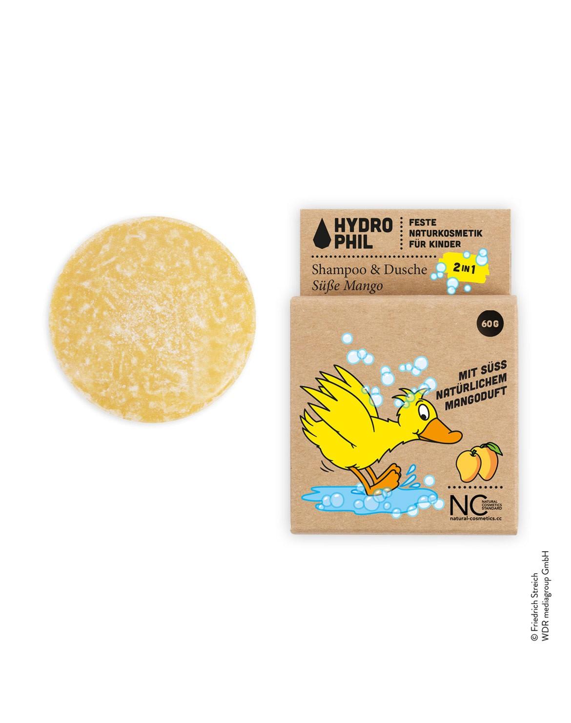 Festes Shampoo & Dusche für Kids mit der Ente - süße Mango