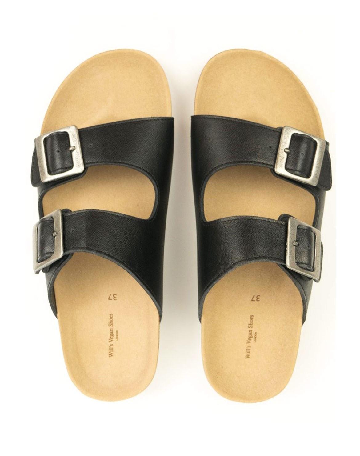 Two Strap Footbed Sandalen