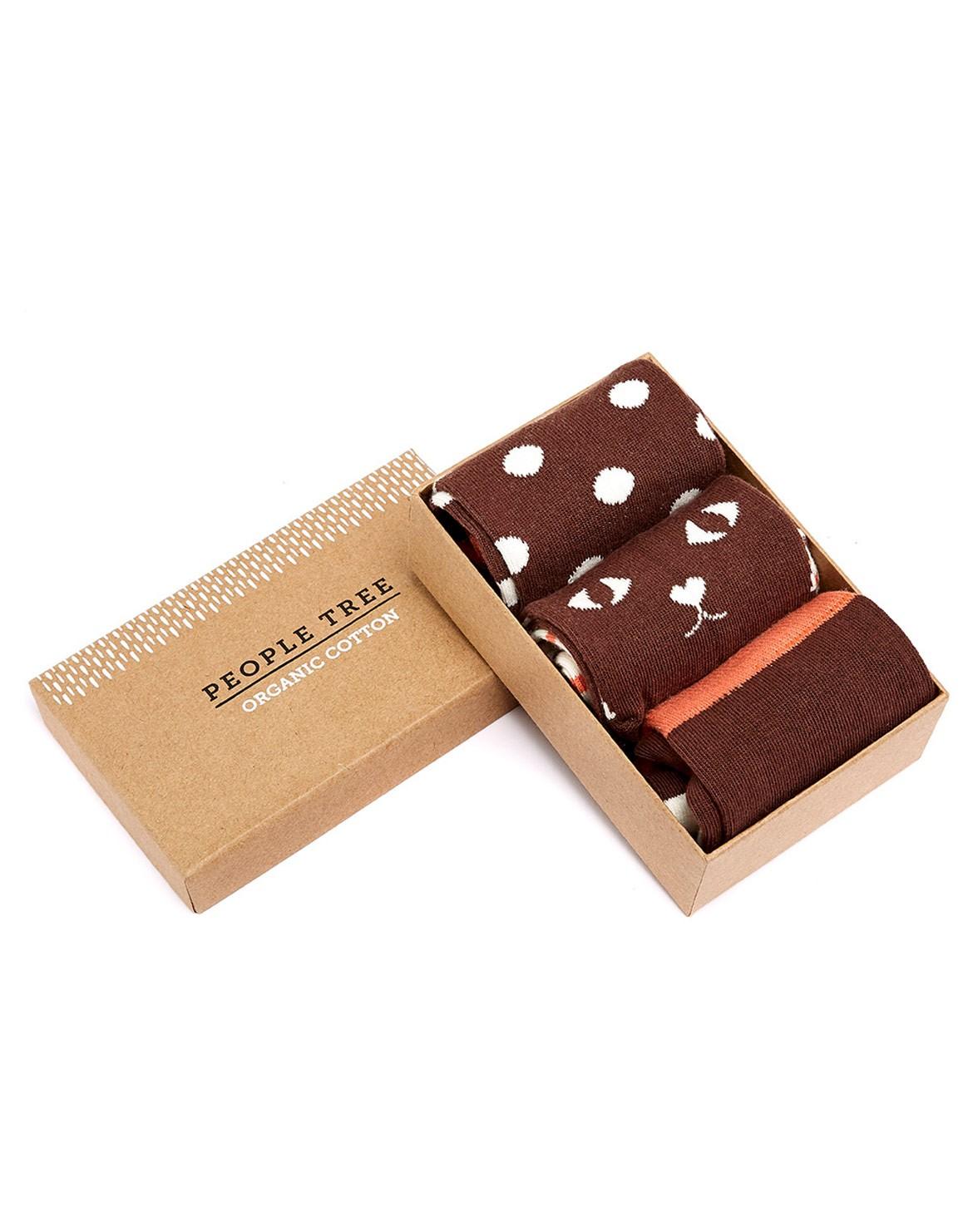 Brown Socken 3er in Box