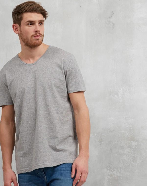 Round V-Neck T-Shirt