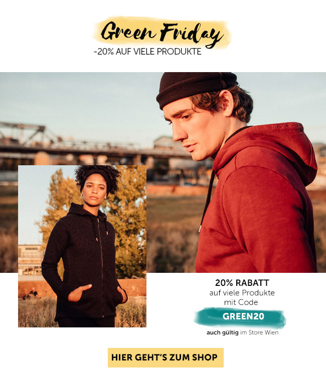 Spare 20% Rabatt am Green Friday auf viele Produkte